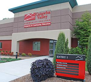 CVCC Corporate and Continuing Education building entry 1