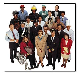 group photo of public service professionals