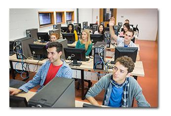 Students in computer class