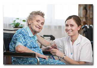CNA with elderly patient