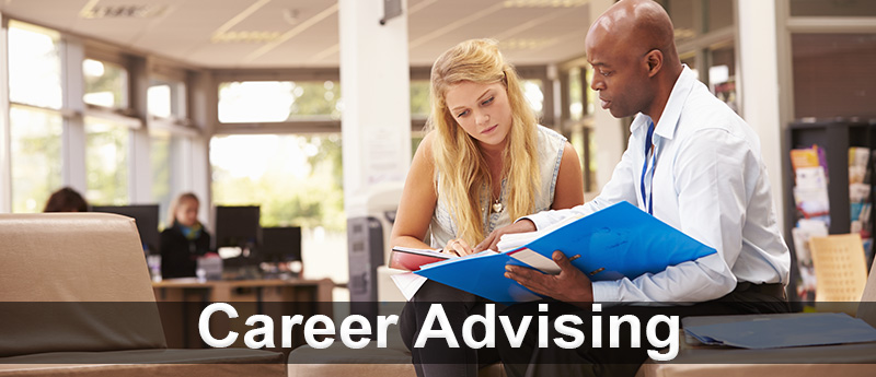 Career Advising - man instructing female student