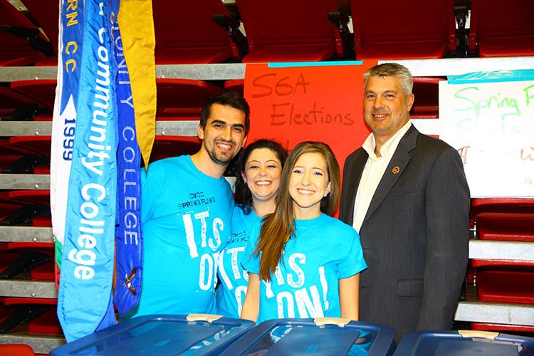 SGA students and President