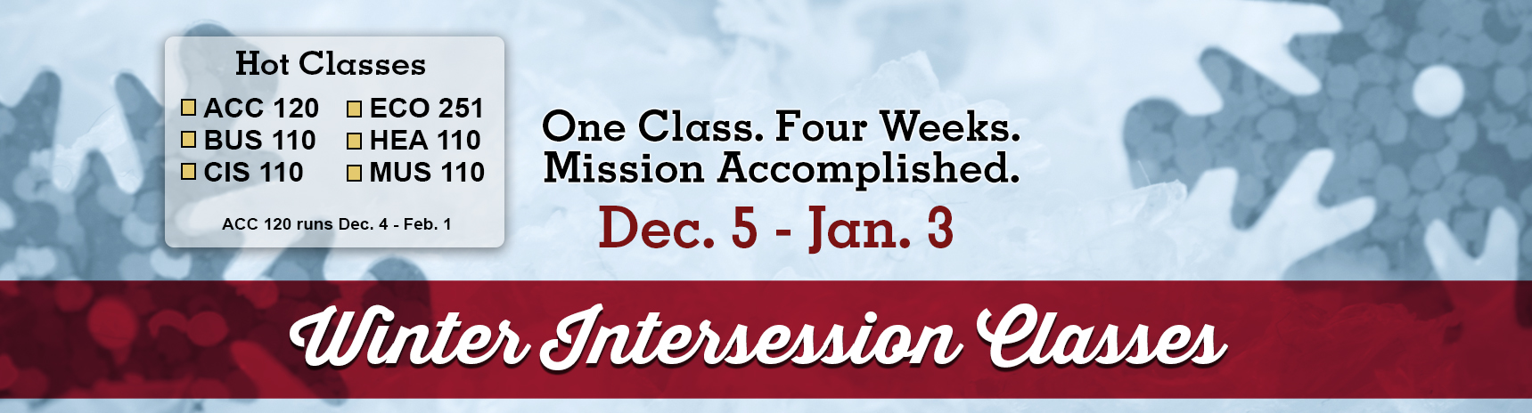 Winter Intersession 2018
